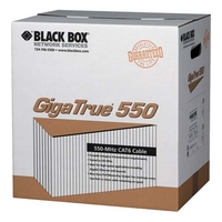 GigaTrue® CAT6 bulk cable UTP 550MHz solid PVC