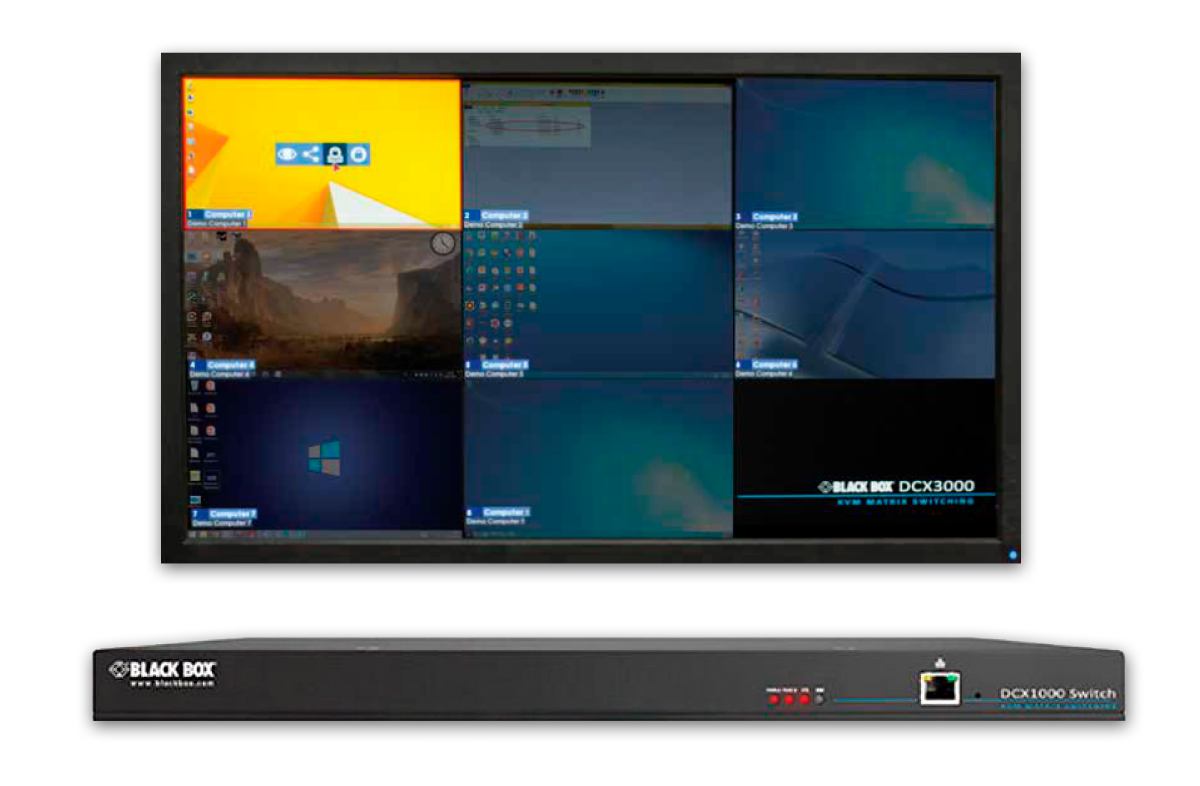Black Box DCX Series: Award winning user interface